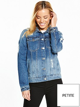 v-by-very-petite-pearl-detail-denim-jacket