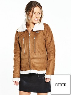 vero-moda-petite-jossa-short-jacket-brown