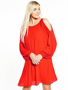 vero-moda-vero-moda-view-long-sleeve-cols-shoulder-short-dress