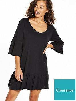 vero-moda-petite-drop-hem-frac34-sleeve-dress