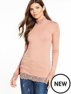 yas-elle-long-sleeve-top-mahogany-rose