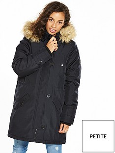 vero-moda-petite-expedition-parka-black