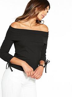 v-by-very-rib-bardot-top-black