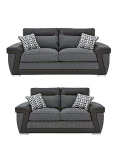 geo-fabric-and-faux-leather-3-seater-2-seaternbspsofa-set-buy-and-save