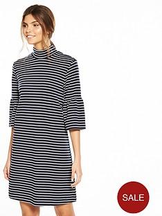 vila-sonja-three-quarter-sleeve-dress-navy