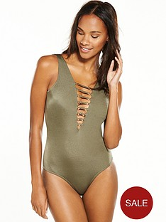 v-by-very-strappy-plunge-swimsuit-khaki