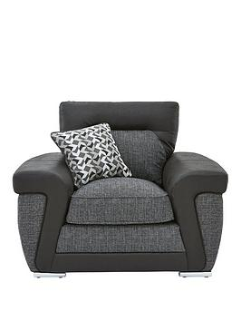 geo-fabric-and-faux-leather-armchair