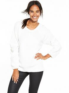 vila-vila-specific-long-sleeve-v-neck-knit-top