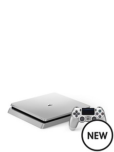 playstation-4-s4-500gb-silver-console-with-extra-silver-dualshock-controller-and-optional-12-months-playstation-network