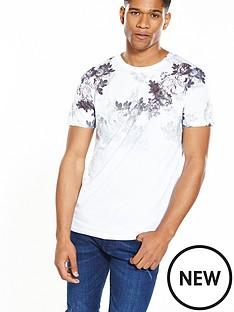 river-island-slim-floral-raglan-tshirt