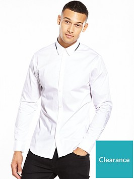 selected-homme-long-sleeve-contrast-collar-shirt