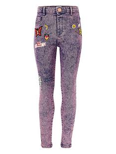 river-island-girls-purple-acid-wash-molly-badged-jeggings