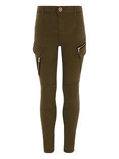 river-island-girls-khaki-skinny-fit-cargo-trousers