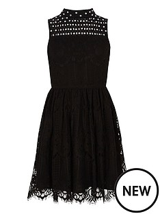 river-island-girls-black-lace-high-neck-prom-dress