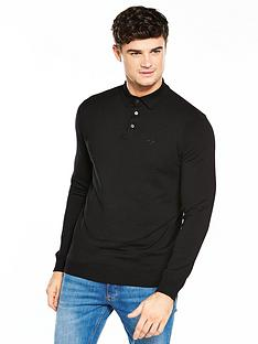 river-island-long-sleeve-slim-knitted-polo