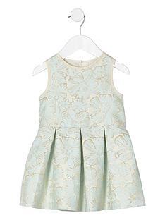 river-island-mini-girls-cream-floral-jacquard-prom-dress