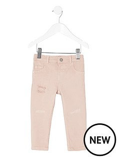 river-island-mini-girls-pink-rip-and-repair-molly-jeggings