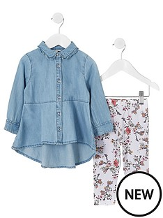 river-island-mini-girls-denim-shirt-amp-legging-outfit