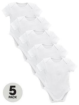 mini-v-by-very-baby-unisex-5-pack-short-sleeve-bodysuits-white