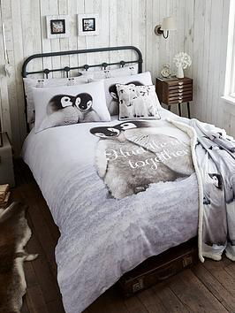 catherine-lansfield-snuggly-penguin-cotton-christmas-duvet-cover-set