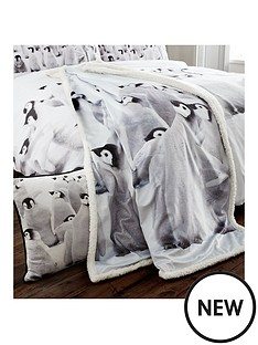 catherine-lansfield-snuggly-penguin-bedspread-throw