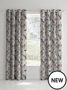 catherine-lansfield-painted-floral-linednbspeyelet-curtains