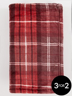 catherine-lansfield-red-tartan-throw