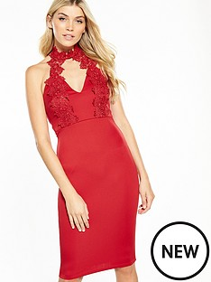 ax-paris-lace-neck-bodycon-dress-with-keyhole-cut-outnbsp