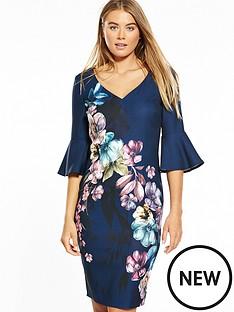 little-mistress-floral-placement-print-dress