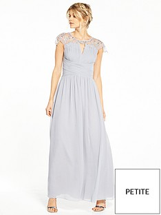 little-mistress-petite-cap-sleeve-embellished-maxi-dress-grey