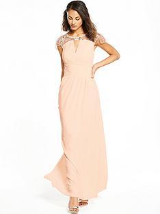 little-mistress-cap-sleeve-embellished-maxi-dress-nude
