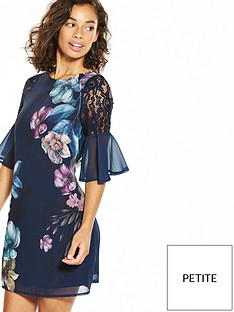 little-mistress-petite-floral-placement-print-shift