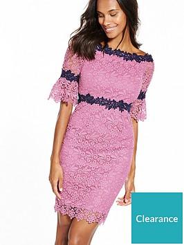 paper-dolls-petite-pink-and-black-lace-bardot