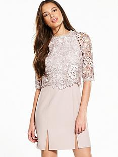 little-mistress-lace-overlay-mini-dress