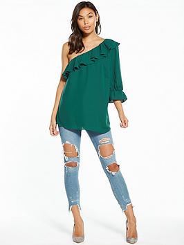 Union Blouse One Yevelyn Shoulder Fashion Authentic Cheap Price dcxspF