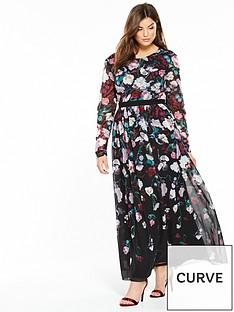 little-mistress-curve-floral-maxi-dress