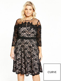 little-mistress-curve-lace-fit-and-flare-dressnbsp
