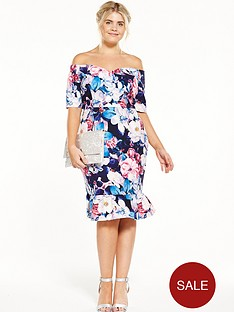 paper-dolls-curve-bardot-printed-pencil-dress