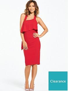 myleene-klass-pasymmetric-neck-ruffle-back-dress-redp