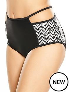 rare-rare-sequin-cut-out-high-waist-bikini-bottom