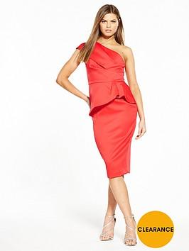 Very Premium Satin One Shoulder Dress, Women
