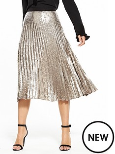v-by-very-pleated-sequin-skirt