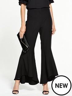 v-by-very-flared-hem-trouser-black
