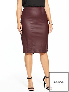 v-by-very-curve-body-sculpt-coated-zip-back-skirt