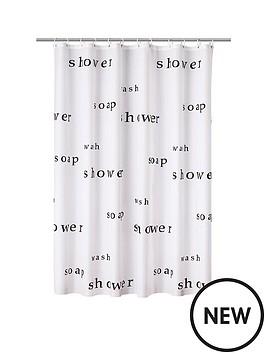 Aqualona Words Shower Curtain