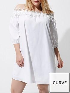 ri-plus-white-poplin-dress