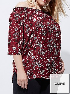 ri-plus-red-floral-bardot-top