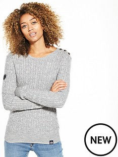 superdry-croyde-cable-knit-jumper-grey