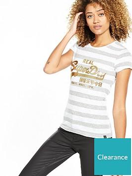 f2a23e0939 Superdry Vintage Logo Stripe Entry T-shirt | littlewoodsireland.ie