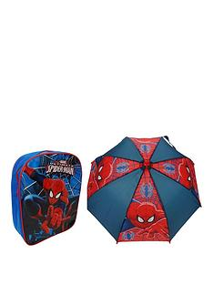 marvel-spiderman-backpack-amp-umbrella-set